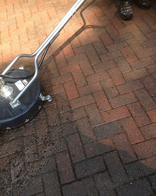 Totally Guttered high qualit pressure washing in action.